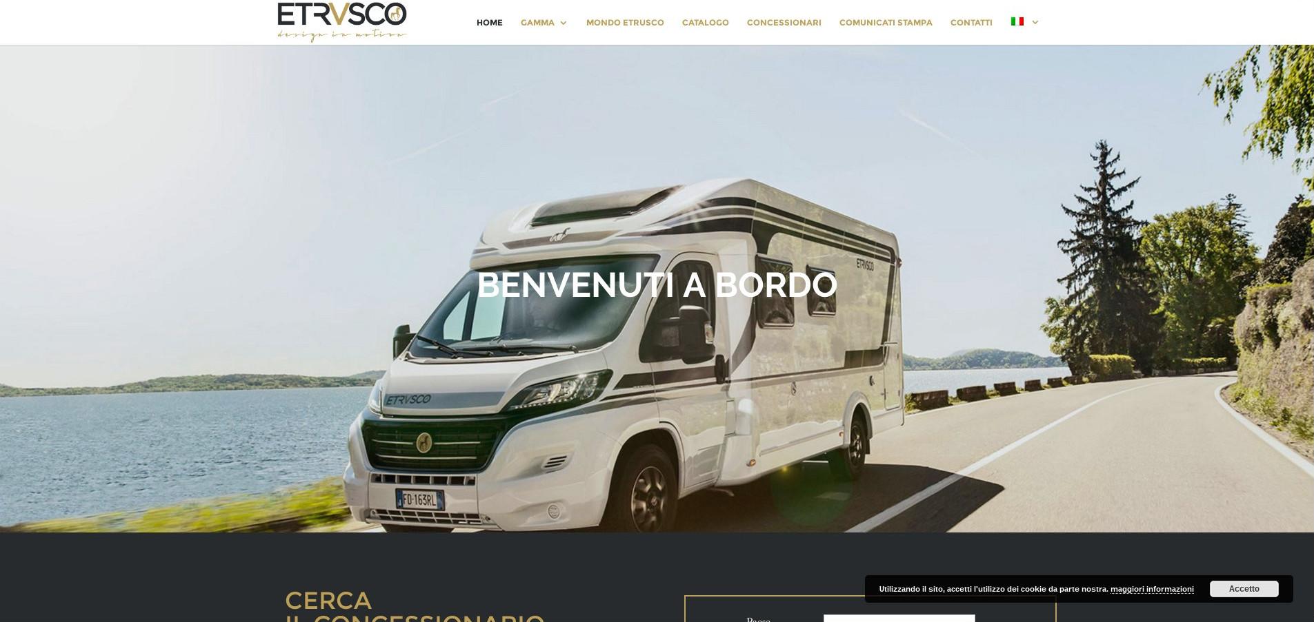 Etrusco - realizzazione sito web Orange Web Agency di Firenze