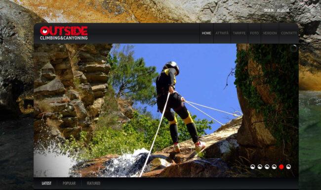 OUTSIDE –  CLIMBING&CANYONING