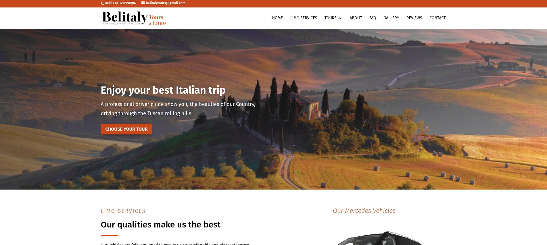 Limousine service sito web Firenze