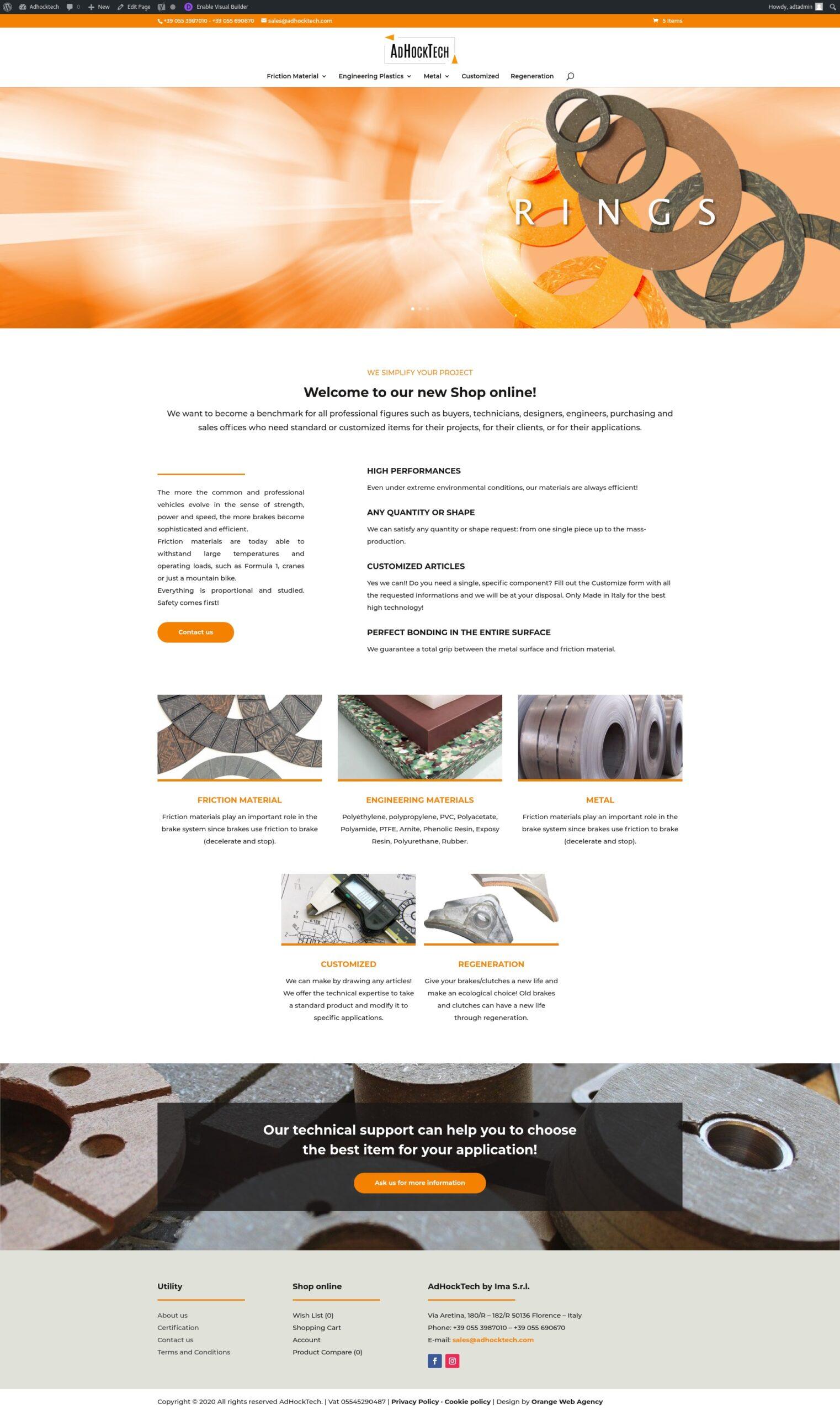 ADHOCKTECH SITO WEB E-COMMERCE