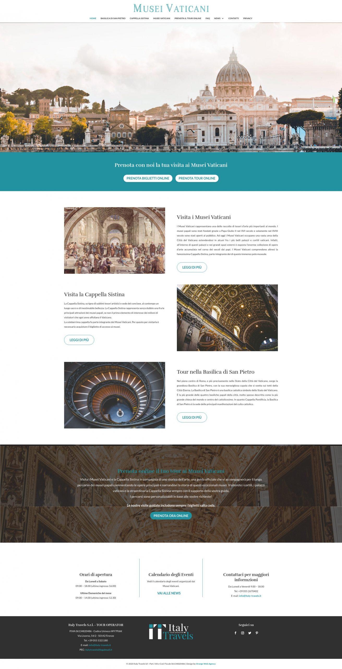 realizzazione sito web musei vaticani