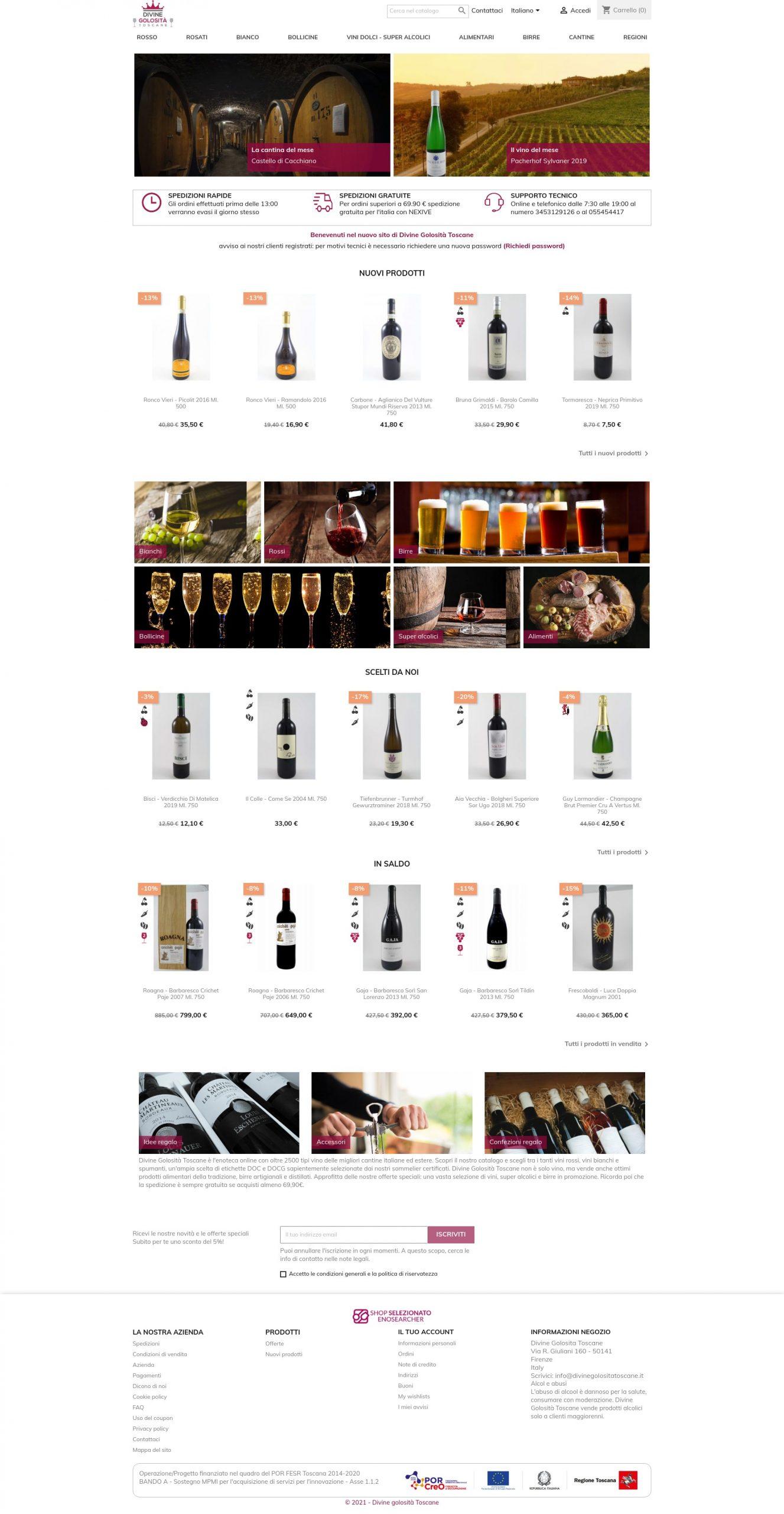 e-commerce enoteca